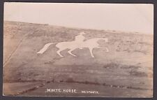 Postcard Weymouth Dorset the White Horse posted 1905 to Wareham RP by Weeks Bros