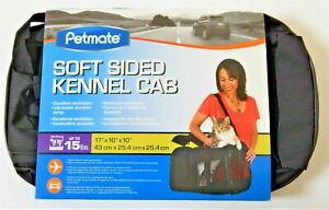 NEW* Petmate Soft-Sided Kennel Cab Pet Carrier 17x10x10 - Black (up to 15lbs)