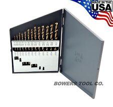 Norseman 13pc COBALT M42 Drill Bit Set Jobber Lengths 1/16-1/4 MADE IN USA D-13