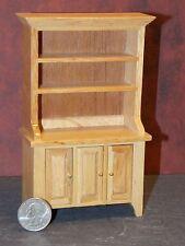Dollhouse Miniature Kitchen Oak Hutch Cabinet Cupboard 1:12 D65 Dollys Gallery