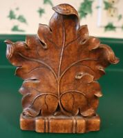 Vintage Resin Maple Leaf Bookend Home Decor Collectible ONE Piece