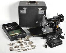 Vintage Singer 1948 Featherweight Sewing Machine w/ Case Accessories 221