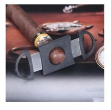New Black Stainless Steel Blade Cut Tobacco Cigarette Cigar Cutter Ring Gauge