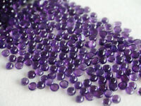 10 Pcs Super !! Natural AMETHYST 8x8 mm Round Cabochon Loose Gemstone AR-26