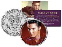 "Elvis Presley ""Red"" JFK Kennedy Half Dollar US Coin *Officially Licensed*"