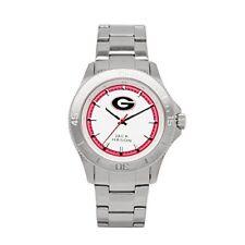 Jack Mason NCAA Stainless Steel Georgia Bulldogs 12 Hour Bracelet Wrist Watch