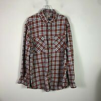 Duluth Trading Co Flannel Men's 2XL Tall Plaid Heavy Long Sleeve Button Front