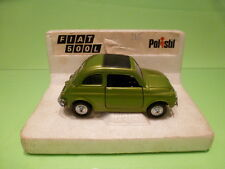 POLISTIL S599 FIAT 500L - METALLIC GREEN 1:25 - VERY GOOD CONDITION ON STAND
