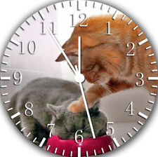 Cute Funny Cat Frameless Borderless Wall Clock Nice For Gifts or Decor E304