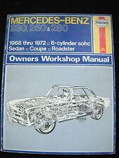 Haynes Mercedes Benz Owners Workshop Manual 230, 250, 280 Sedan,Coupe,Roadster