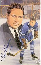 Red Horner Autographed Hockey Legends Card HOFer