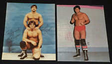 1980's WRESTLER /WRESTLING THE ROUGEAU BROTHERS - AUTOGRAPH PHOTO (2) - ORIGINAL