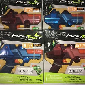 4 x Lazer Tag Team Ops (LTTO) IRT 2X (Drone) Laser Taggers (2 Red, 2 Blue)