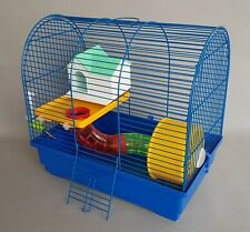 Hamster Cage Oval House Platform Tube Wheel Water Bottle Mouse Animals Pet Mice