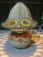 VINTAGE POTTERY TABLE LAMP BY ARTIST BERNARD ROOKE 1980s GOOD CONDITION