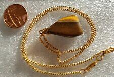 Tiger Eye Stone Pendant Necklace ~ 23 cm chain