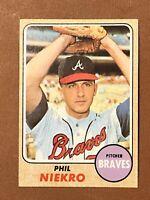 1968 Topps Phil Niekro Card #257 NM-MT Nice Card HOF Atlanta Braves