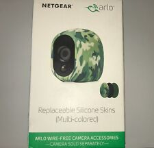 Netgear Arlo Pro Replaceable Silicone Skins Camouflage/Black/Green 3 Pack NEW