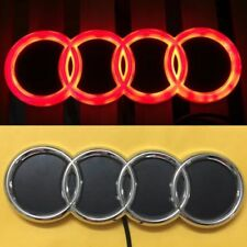 4D LED Car Tail Logo Red Light for Audi Q3 Q5 A1 A3 TT Auto Badge Light Emblems