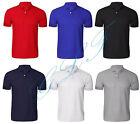 Homme Chemise Polo uni T shirt uni Chemise manche courte taille UK S M L XL XXL