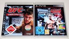 2 PLAYSTATION 3 giochi Set-UFC Undisputed 2009 & Smackdown vs Raw 2011 ECW