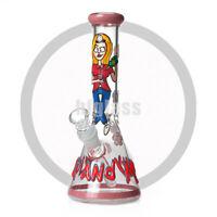 """Cartoon Bong 10"""" Glass Bong Glass Water Pipe Heavy Glass Water Bong Shisha"""