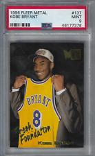 1996 FLEER METAL # 137 KOBE BRYANT ROOKIE CARD PSA 9