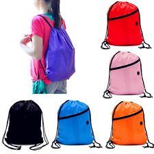HOT Girls/Boys Drawstring Swim Sports Shoe Dance Bag Schoolbag Backpack PE Gym