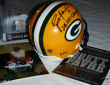 BRETT FAVRE 4 AUTOGRAPHED SIGNED GREEN BAY PACKERS SB XXXI Champs  HELMET LE 31