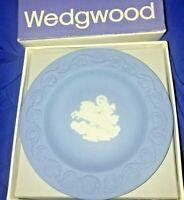 """Wedgwood Jasperware Chariot Patrician Horse 4.5"""" Pin Plate Round Sweet Dish BOX"""