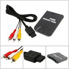 Nuovo 6FT Video Audio cavo del cavo di + 16 MB Memory Card per Nintendo GameCube