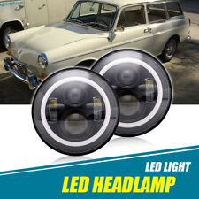 "VW TYPE BUS GHIA Headlights For 7"" LED Sealed Hi/Low Beam Angel Eye HALO Pair"
