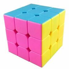 US MoYu AoLong V2 3x3x3 Speed Cube Enhanced Edition Hgh Bright Stickerless Pink