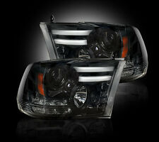 RECON Smoked Projector Headlights 264276BKC 2013-2016 Dodge Ram 1500 2500 3500