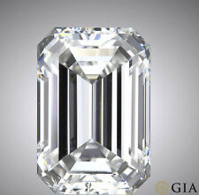 GIA certified 1.5 carat Emerald Cut Diamond E color SI1 clarity Ideal loose