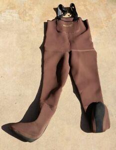 Simms neoprene Guide Waders Stockingfoot Greystone XSK brown