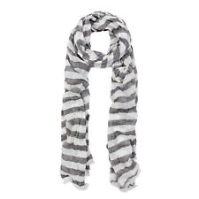 Pure Cotton Lightweight Striped Fashion Scarf - Different Colors