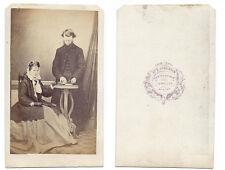 CDV Rev & Mrs Septimus Wood of West Keal Carte de Visite by Jenkinson of Bawtry