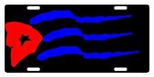 CUBA Flag Custom License Plate Cubano Emblem Dark Version