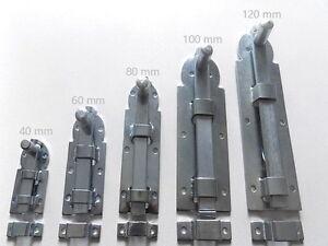 Türriegel, Kellerriegel, Fensterriegel, 40 / 60 / 80 / 100 oder 120 mm lang
