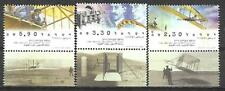 Israel Year 2003 Stamps MNH With Tab Wright Brothers Flight Aviation