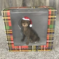 Sandicast Labradoodle Dog Christmas Tree Ornament With Santa Hat New In Box