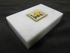 Marble Stone Collectable 32 Cent 1996 Yellow Rose Stamp Paper Weight March Co