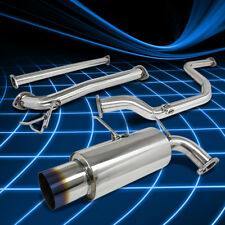 STAINLESS STEEL CATBACK CAT BACK EXHAUST SYSTEM 90-93 INTEGRA DA5-DA9 BURNT TIP