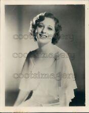 1938 Actress Eleanor Hunt 1930s Press Photo