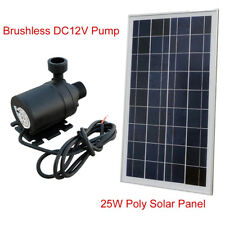 25W 12V Solar Hot Water System Water Circulation Heating Pump 60℃ 4.8m Head