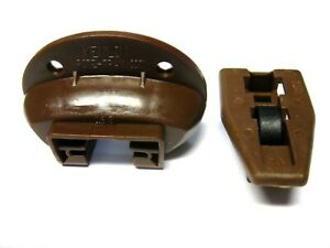 1 set   New Kenlin Rite-Trak Track  II (2) ii  Drawer Guide & Stop With Roller