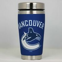 Vancouver Canucks Mugzie NHL Hockey Team Logo 16oz Travel Tumbler Coffee Mug Cup