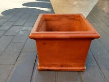 small squares terracotta pot -used