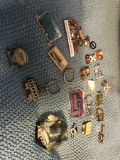 Train Lot/vintage & New Pins/key Chains/tie Clasp & More